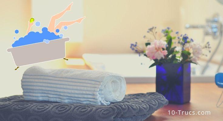 bain relaxant à la maison, quoi mettre dans son bain