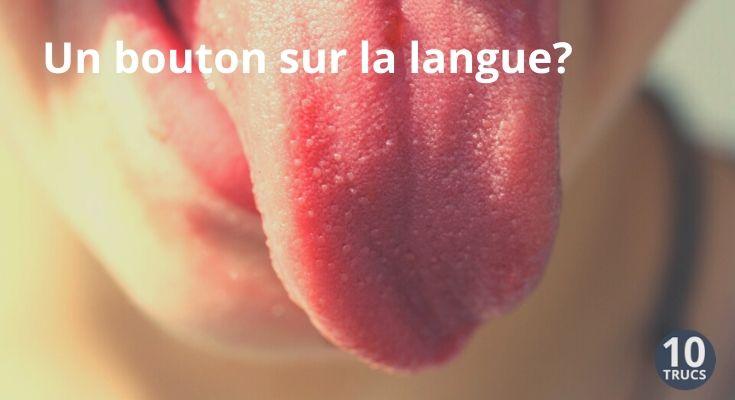 bouton sur la langue