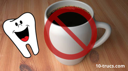 éviter le café pour des dents blanches