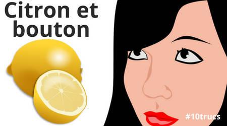citron et bouton pour un visage sans bouton