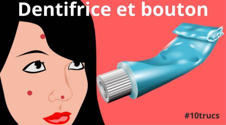 dentifrice pour enlever les boutons sur la peau du visage