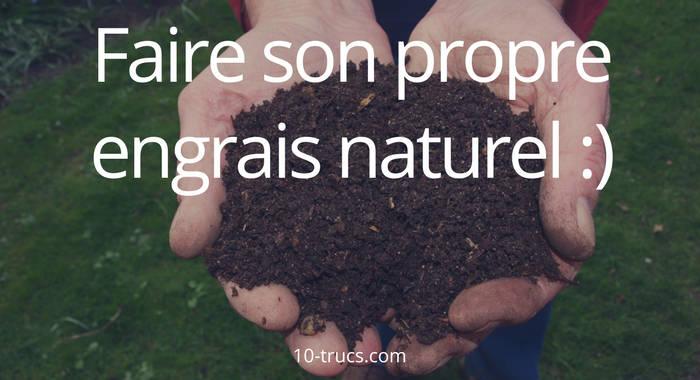 fabriquer son propre engrais naturel pour plante