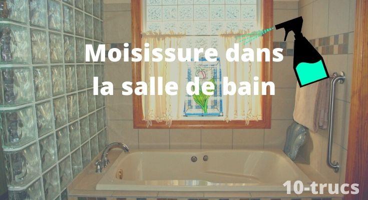Enlever la moisissure dans une salle de bain