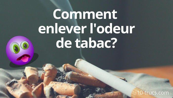 enlever l'odeur de cigarette dans la maison