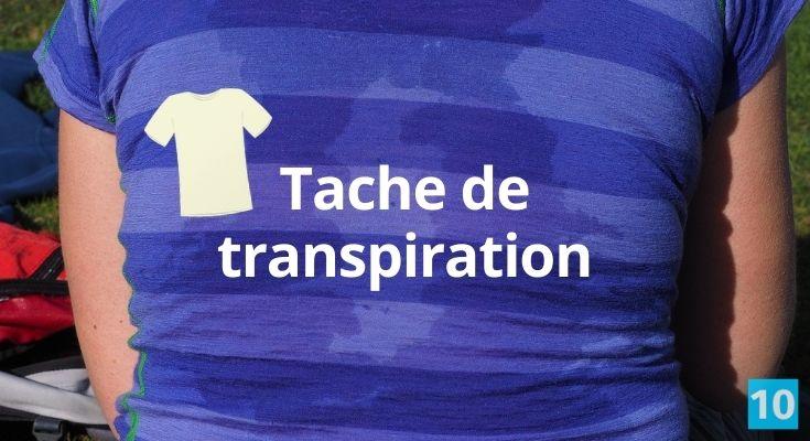 Truc pour enlever une tache de transpiration