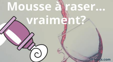 enlever une tache de vin rouge fraîche avec la mousse a raser