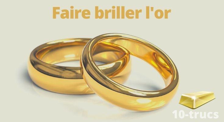 astuce pour faire briller l'or jaune et l'or blanc