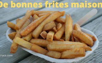 faire de bonnes frites avec un assaisonnement maison