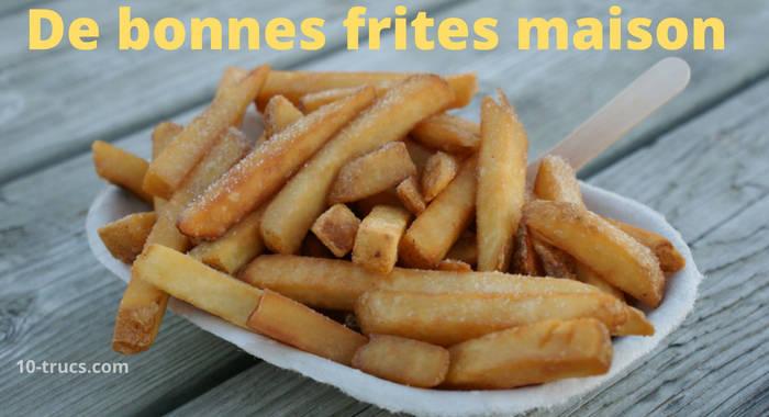 Comment faire de bonnes frites avec quel assaisonnement?