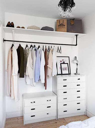 garde-robe et dressing pour aménager une petite chambre