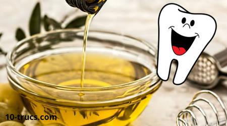 huile d'olive pour les dents et les blanchir