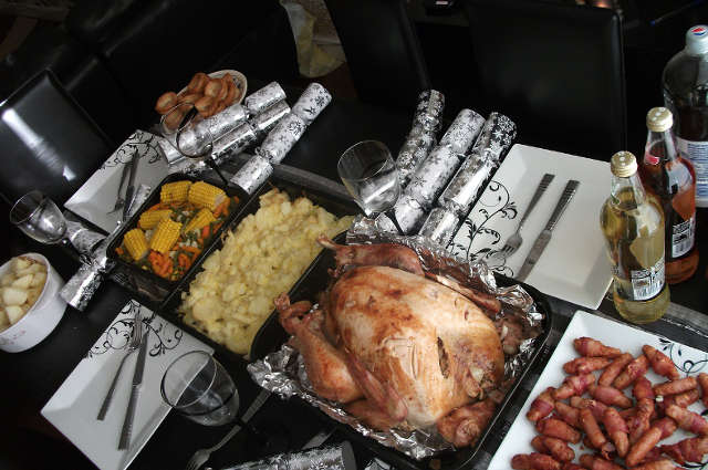 Buffet chaud pour le repas de Noël