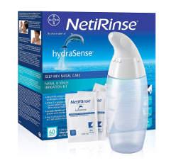 Irrigation pour déboucher et nettoyer son nez