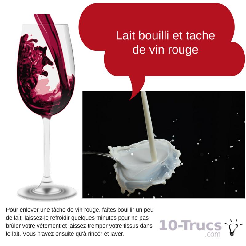 Faire partir une tache de vin sèche avec du lait bouilli