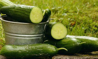 Manger des concombres pour les hommes à la peau grasse