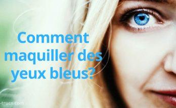 maquillage pour maquiller des yeux bleus