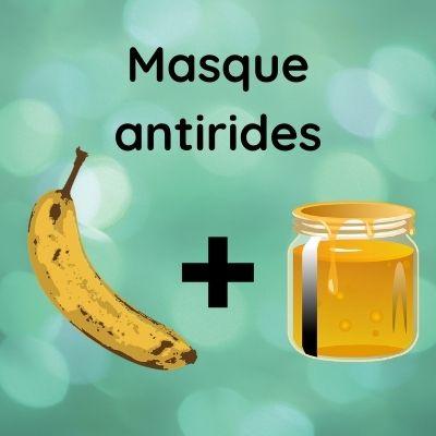 Recette de masque antirides avec un banane et du miel