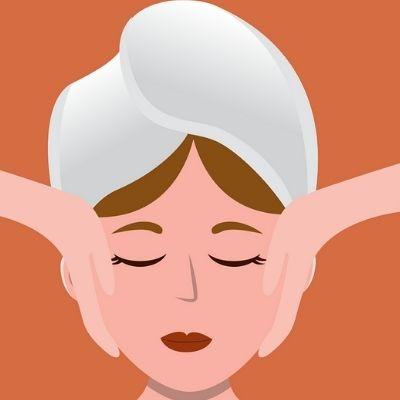 Massage antirides du visage