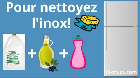 nettoyage de l'inox avec vinaigre blanc et huile d'olive
