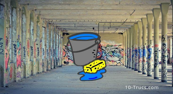 Nettoyer les tags sur un mur