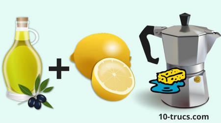 Nettoyer l'inox avec huile et jus de citron