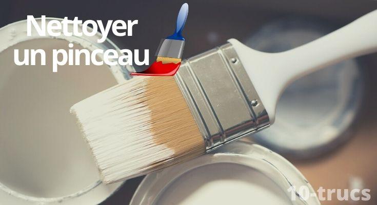 astuce pour nettoyer un pinceau de vernis ou peinture