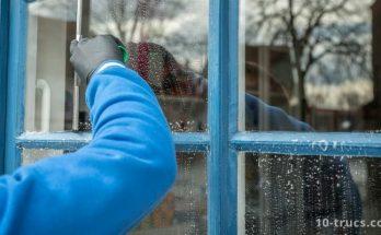 comment nettoyer des vitres sales et encrassées
