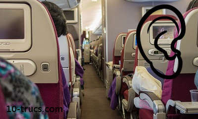 Les oreilles bouchées dans un avion
