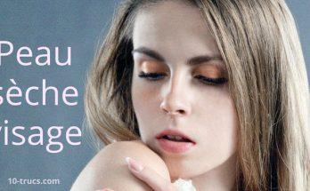 avoir la peau sèche au visage