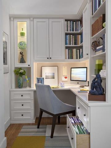 aménager bureau de travail, chambre et bureau,