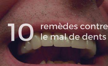 Remède contre le mal de dent