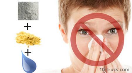 remède pour nez qui coule avec moutarde et farine