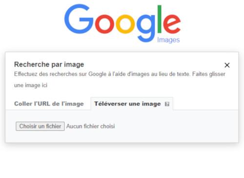 Télécharger sa photo directement dans Google image et lancer la recherche