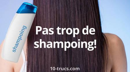 Attention au shampoing pour avoir des cheveux lisses