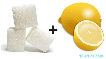 des mains très douces avec du citron et du sucre