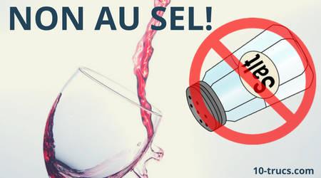 enlever une tache de vin rouge avec du sel