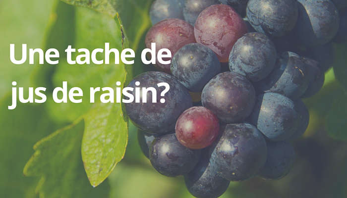 enlever une tache de jus de raisin