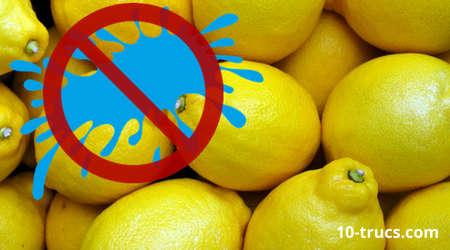 enlever tache de stylo sur du coton avec jus de citron