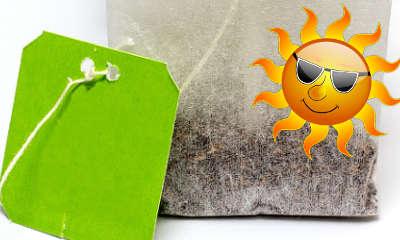 Soigner un coup de soleil avec du thé vert