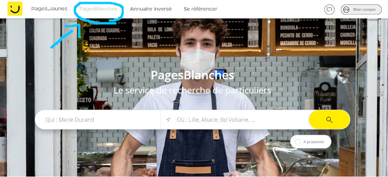 Trouver un numéro de téléphone d'une personne sur les PagesJaunes.fr