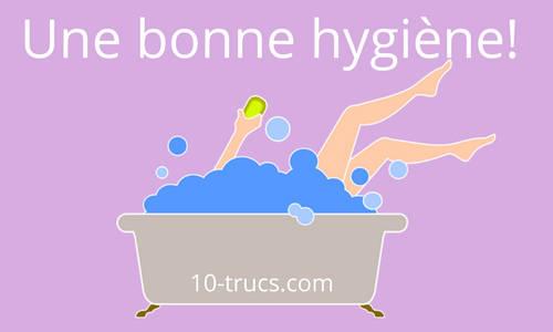Avoir une bonne hygiène pour ne pas transpirer des aisselles