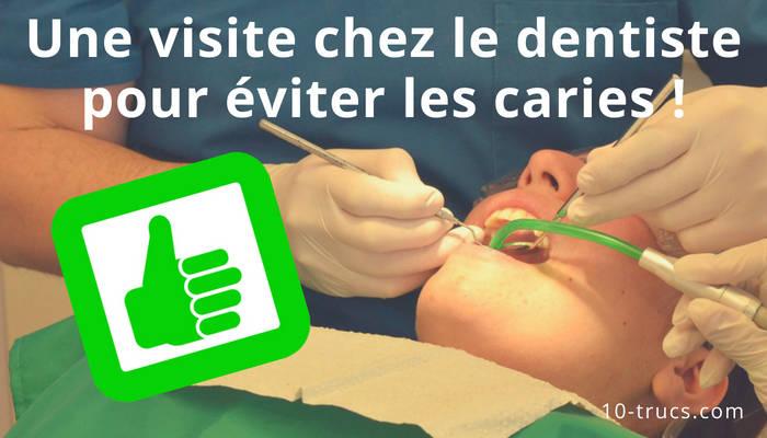 Une visite chez le dentiste pour prévenir les caries
