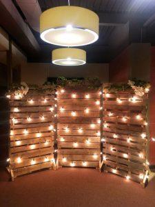 Photobooth avec palette de bois