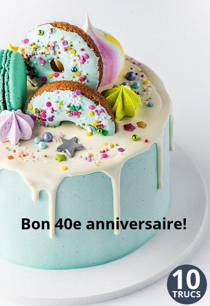 gâteau de fête pour les 40 ans