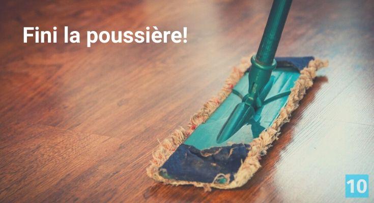 comment enlever la poussière sur un meuble et le plancher