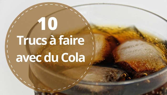 utilisation avec du coca cola