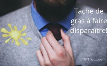 Comment enlever une tache de gras sur vêtement
