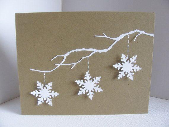 Carte de Noël avec des flocons de neige