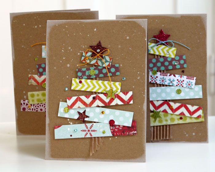 Carte de Noël avec papier de Noël et carton