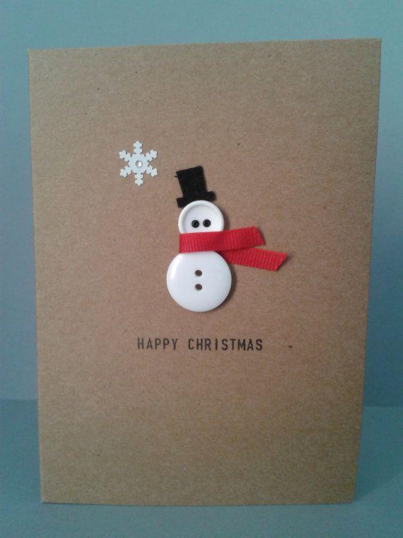 Carte de Noël avec bonhomme de neige à fabriquer